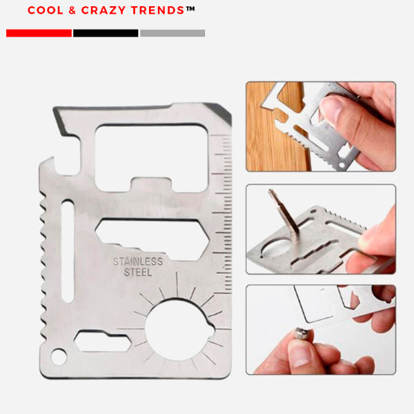 11 in 1 Credit Card Sized Survival Tool