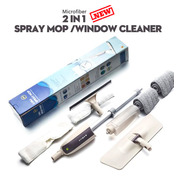 180º Rotation Microfiber Cleaning Spray Mop