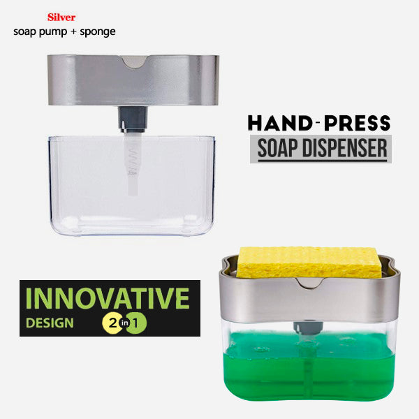 2-in-1 Creative Hand-Press Soap Dispenser 9