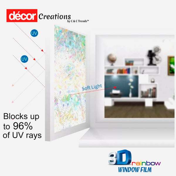 3D Anti-UV Rainbow Window Film