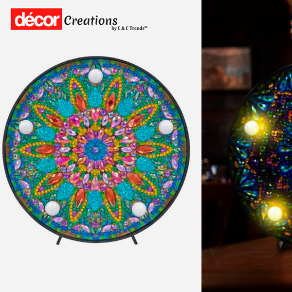 5D Creative Diamond Painting LED Lamp