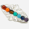 Adjustable Charm Ring: 7 Chakras Stone Bead