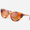 90s Style Amber Leopard Cat Eye Sunglasses