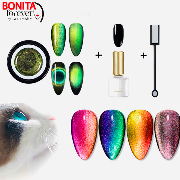 9D Cat Eye Nail Gel Set 23a
