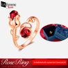 Adjustable Eternal Rose Heart Ring 1a