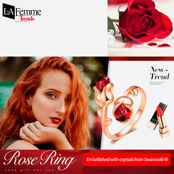 Adjustable Eternal Rose Heart Ring 2a