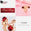 Adjustable Eternal Rose Heart Ring 6a
