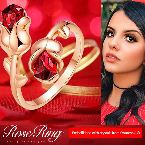 Adjustable Eternal Rose Heart Ring 3
