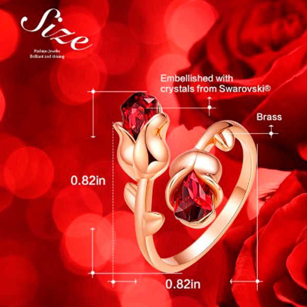 Adjustable Eternal Rose Heart Ring 5
