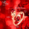Adjustable Eternal Rose Heart Ring