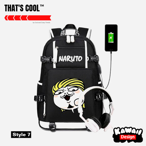Anime Cartoon USB charging Backpack