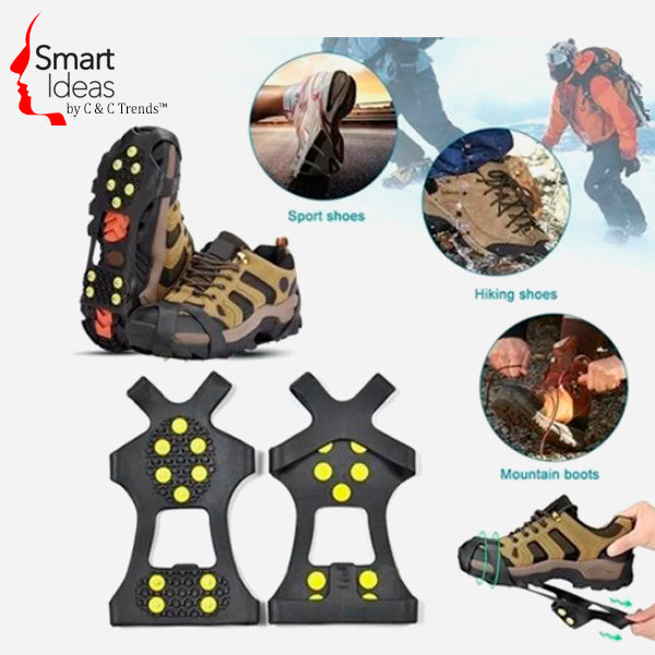 Anti-Skid Gripper Crampons Overshoes for Snow & Ice 4