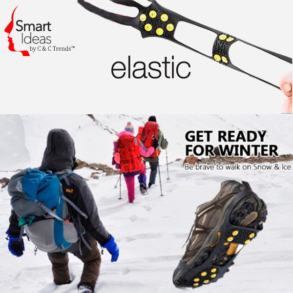 Anti-Skid Gripper Crampons Overshoes for Snow & Ice 5
