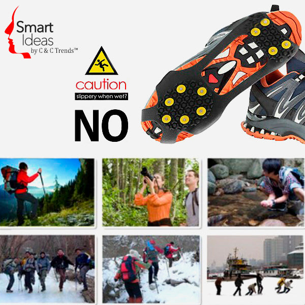 Anti-Skid Gripper Crampons Overshoes for Snow & Ice 7