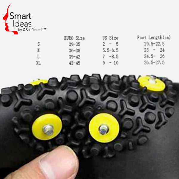 Anti-Skid Gripper Crampons Overshoes for Snow & Ice 8
