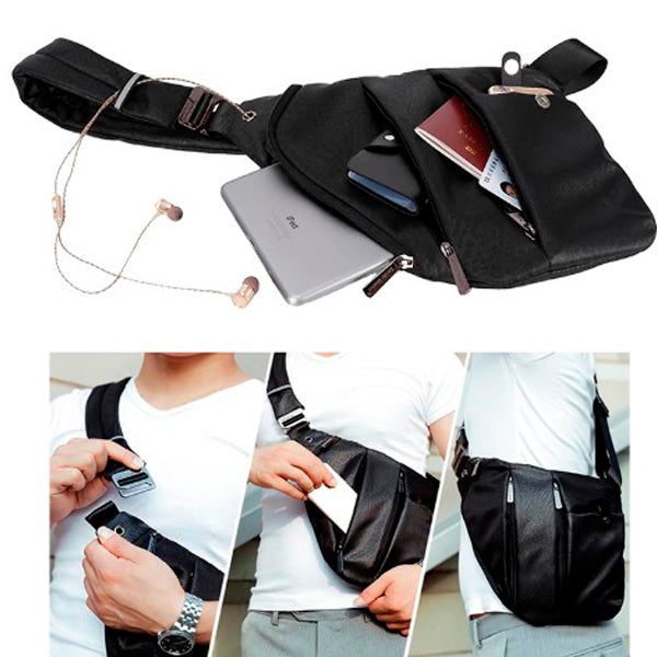 Anti-Theft Vintage Sling Bag for Men