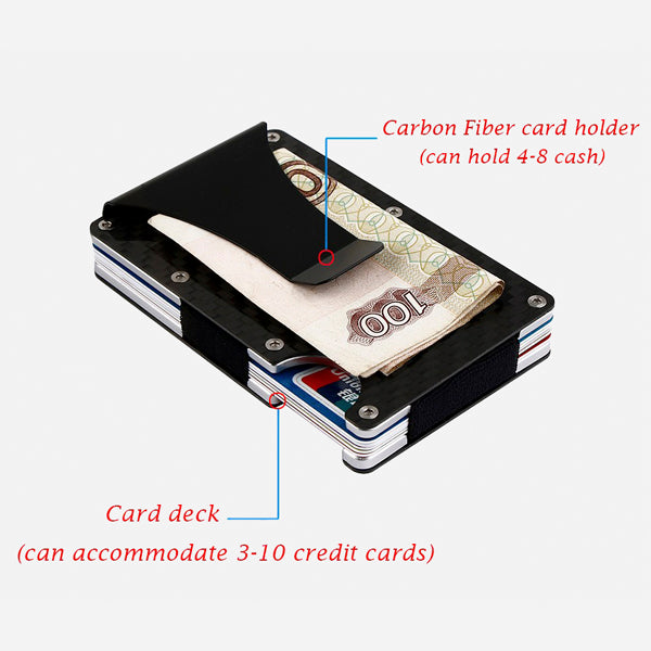 Anti theft Carbon Fiber Card Wallet