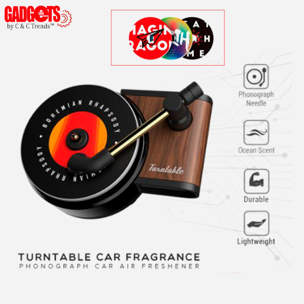 Aromatherapy Vintage Record Player for car