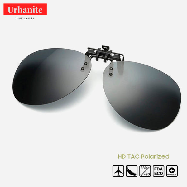 Aviator Rimless Polarized Clip on Sunglasses