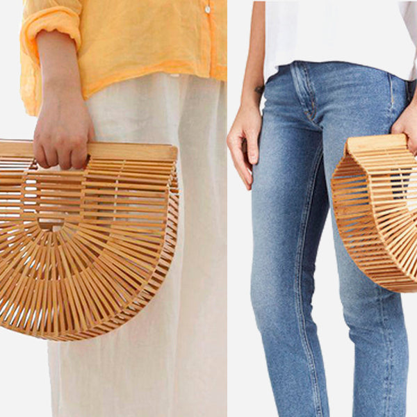 Bamboo Handmade Ark Clutch Bag
