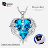 Blue Heart of Ocean Swarovski Necklace 16a