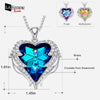 Blue Heart of Ocean Swarovski Necklace 17a