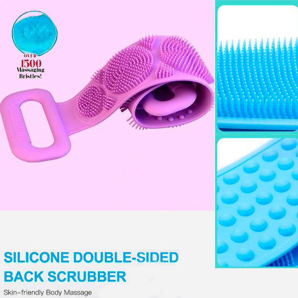 Body Double-sided Silicone Scrubber with Peeling Massage