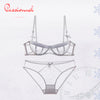 Bohemian Transparent Half cup Underwear set