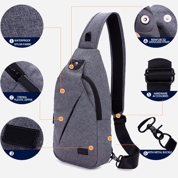 Casual Functional Messenger Bag for Men