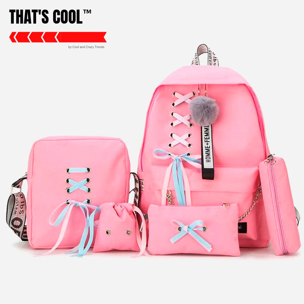 Chain Kawaii Backpacks Set (5 Pcs)