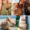 Collapsible Natural Bamboo Vintage Tote