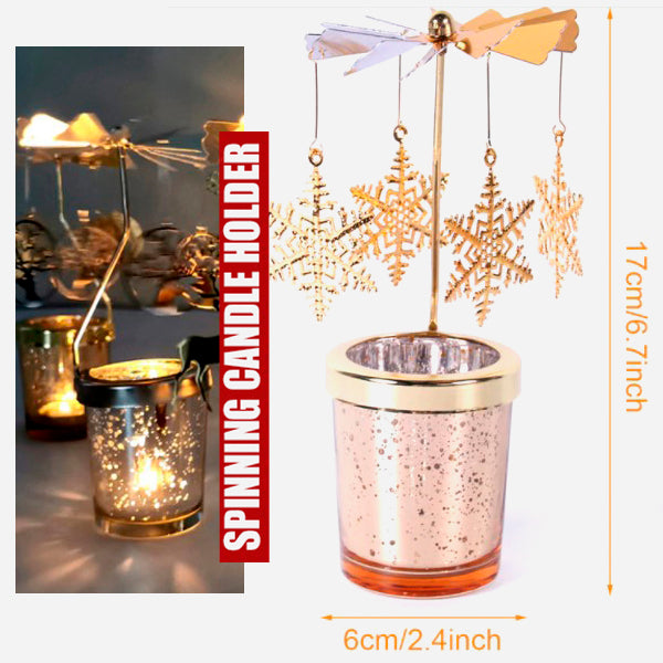 Cool Spinning Metal Candle Holder 10