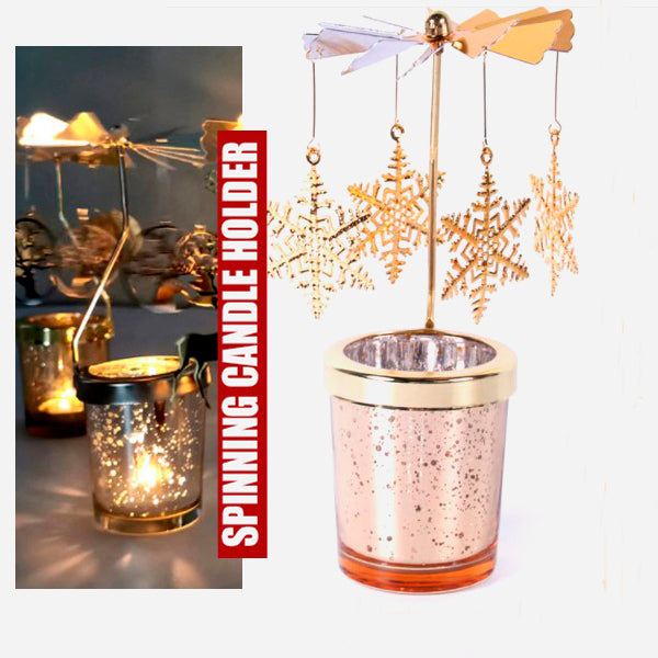 Cool Spinning Metal Candle Holder