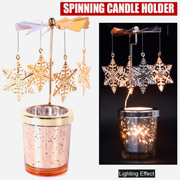 Cool Spinning Metal Candle Holder 1