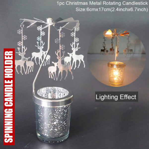 Cool Spinning Metal Candle Holder 2