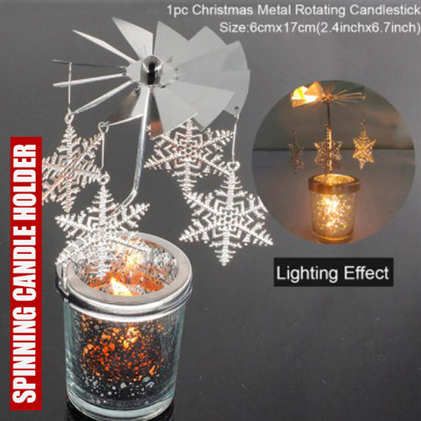 Cool Spinning Metal Candle Holder 3