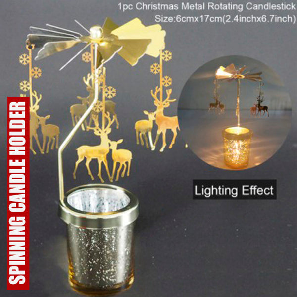 Cool Spinning Metal Candle Holder 4