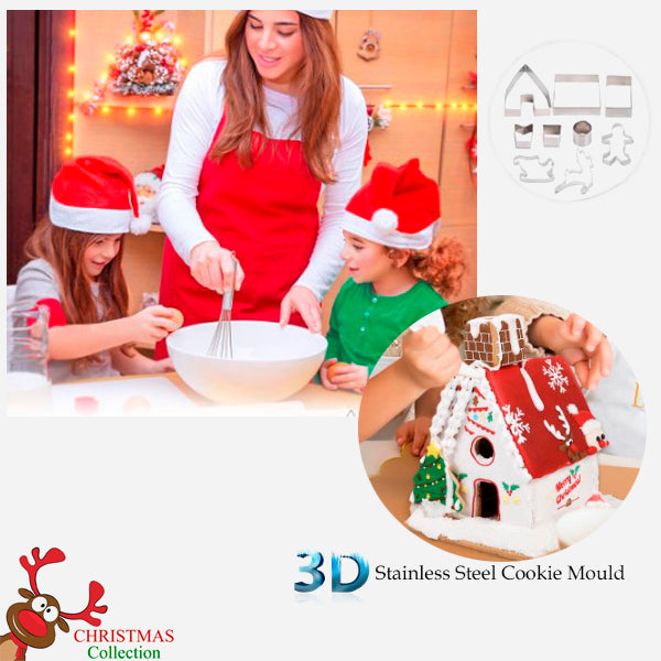 Cool 3D Christmas Cookie Mould Set