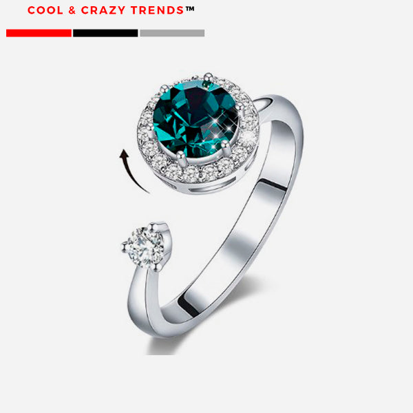 Cool Crystal Adjustable Dancing Ring