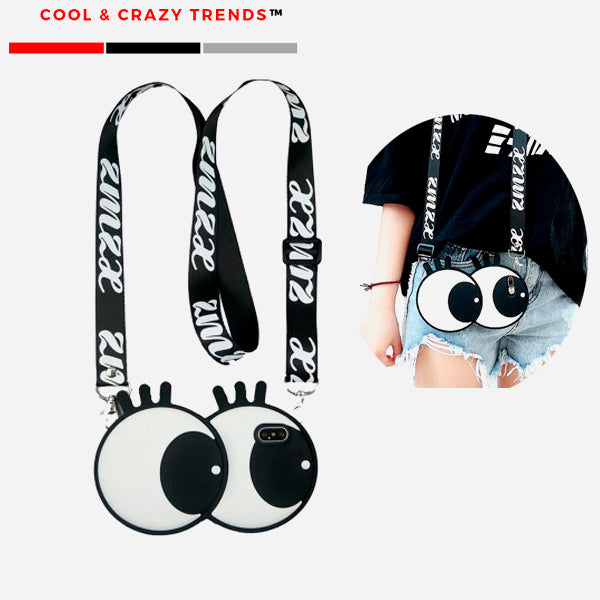 Cool Eyes Shockproof  Phone Case Necklace