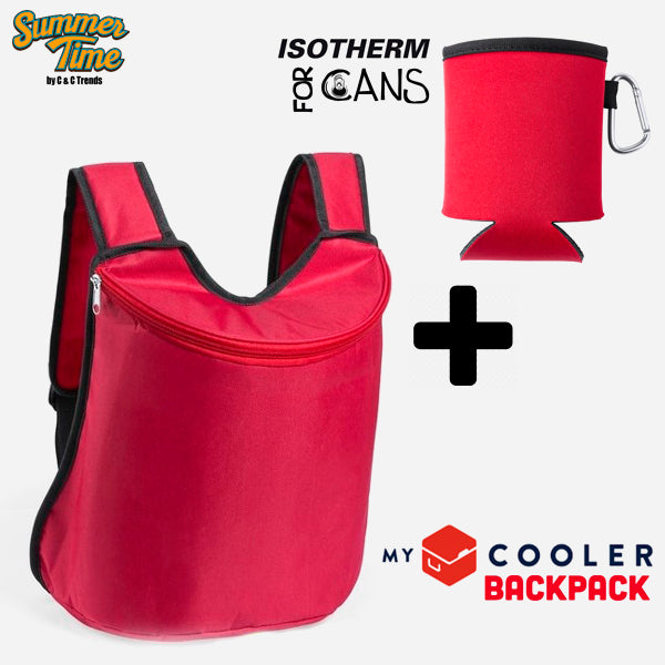 Cooler set (backpack + cover for cans) 2