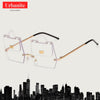 Crazy Rimless Fashionista Sunglasses
