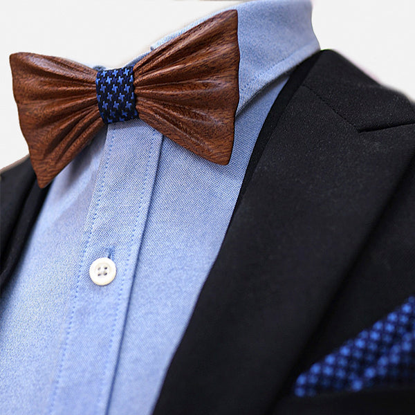 Creative Handmade Wooden Bow Tie Set