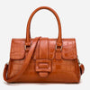 Crocodile Effect Wax Oil Tote bag