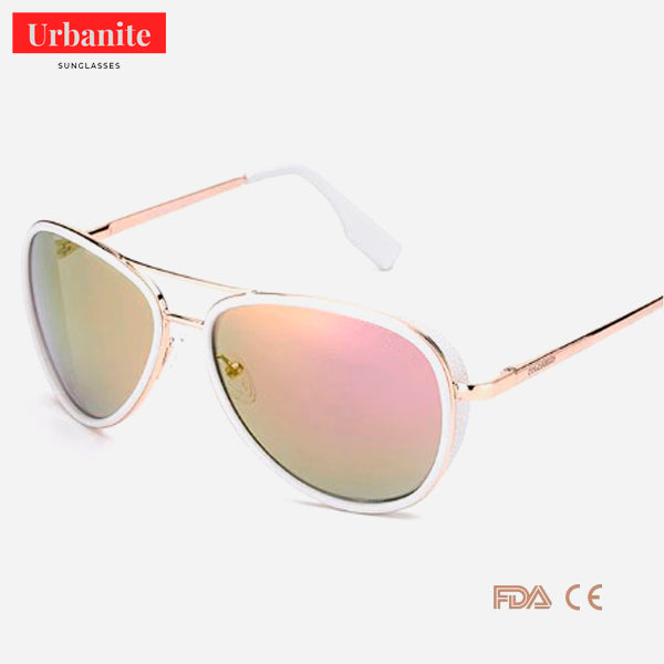 Crystal Pop UV400 Pilot Sunglasses