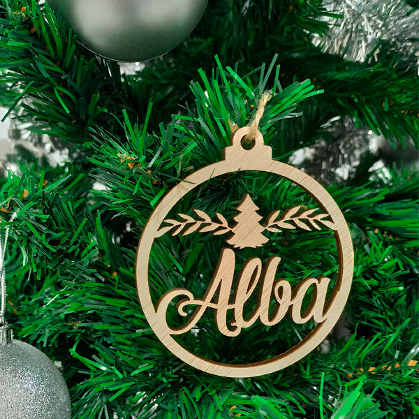 Customized Wooden Christmas Tree Hanging 11a