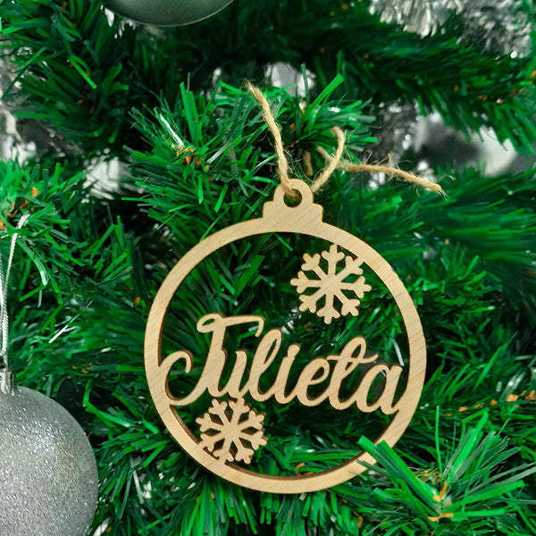 Customized Wooden Christmas Tree Hanging 13a