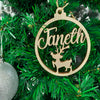 Customized Wooden Christmas Tree Hanging 15