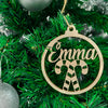 Customized Wooden Christmas Tree Hanging (Pack of 5 Pcs)