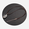 Dandelion of Happiness Leather Chain Necklace